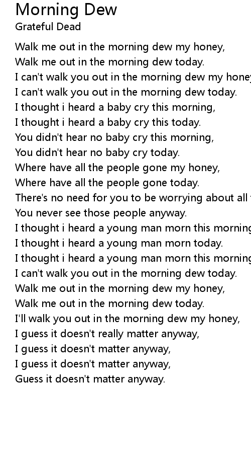 Morning Dew Lyrics
