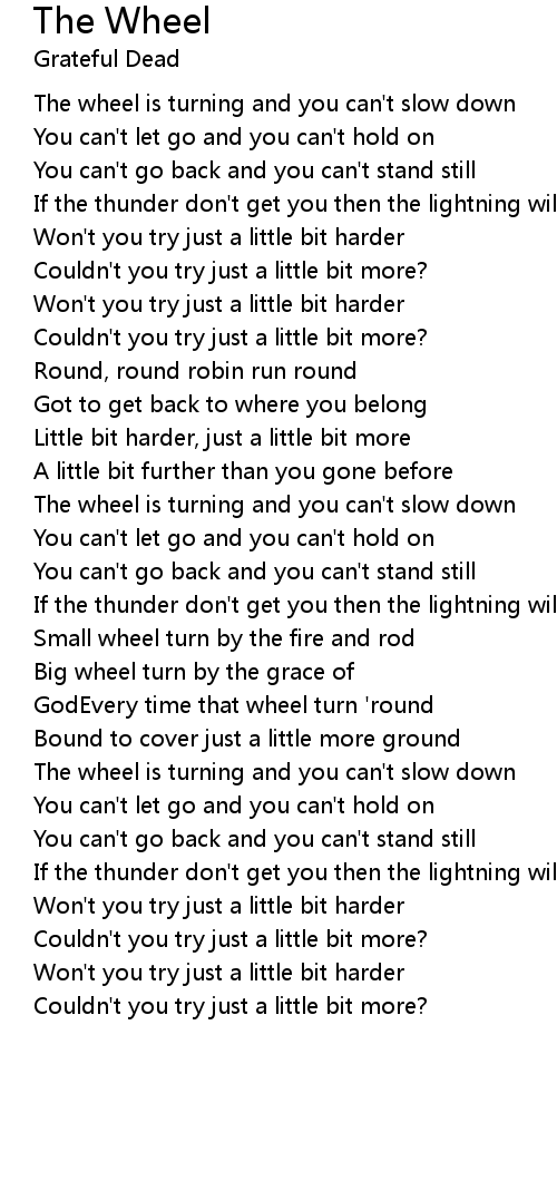 The Wheel Lyrics