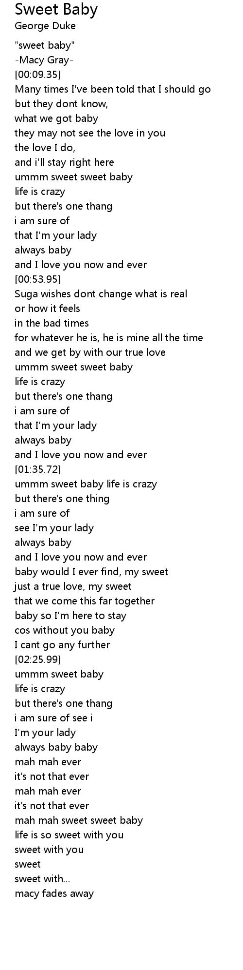 Sweet love 歌詞 so