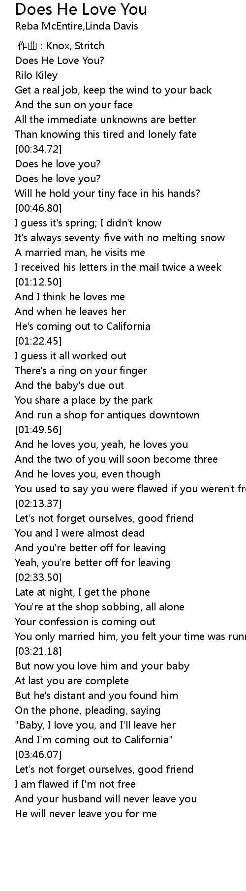 Does He Love You Lyrics - Follow Lyrics