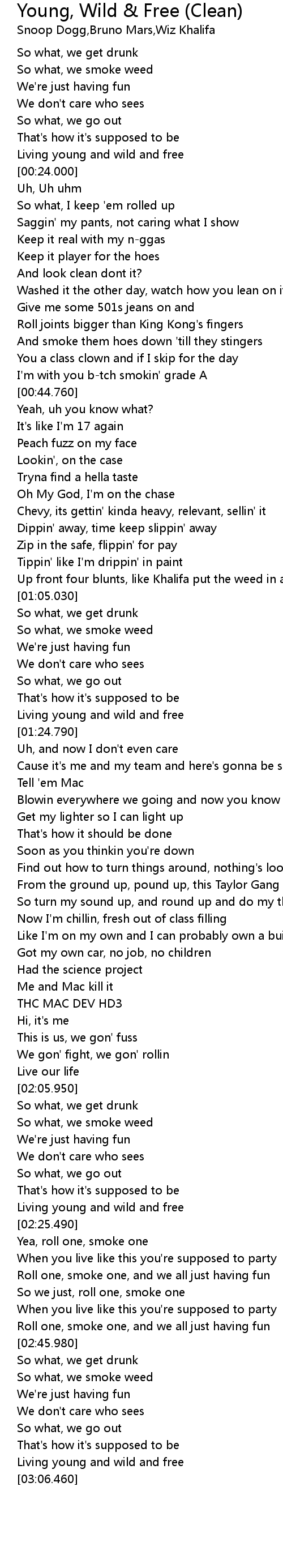 So what we go out lyrics