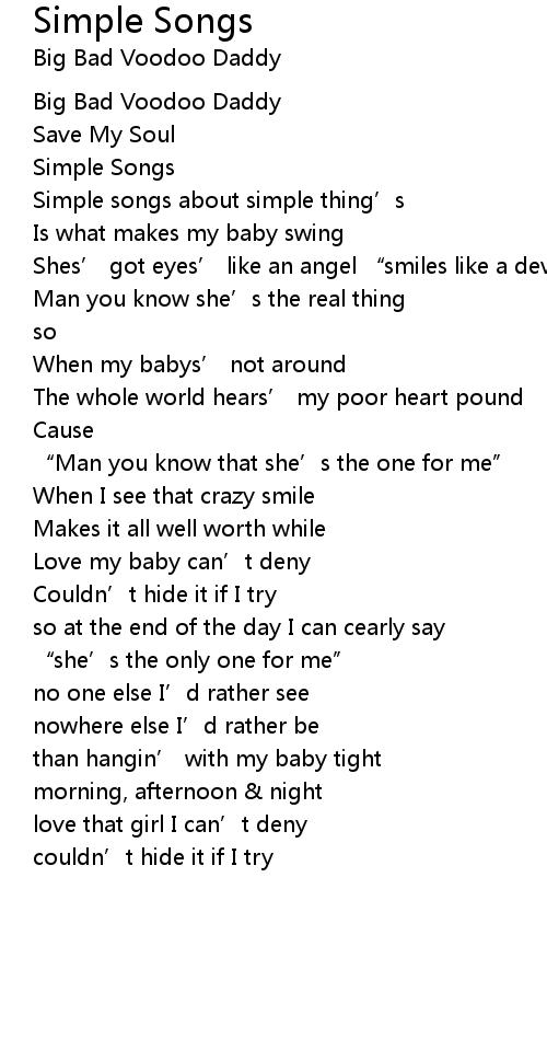 Simple Songs Lyrics Follow Lyrics